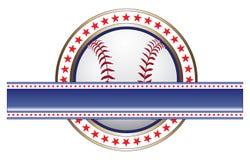 Diseño del béisbol con la bandera Fotos de archivo libres de regalías