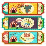 Diseño del boleto del circo stock de ilustración