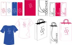 Diseño del bolso de la escritura de la etiqueta Imagen de archivo libre de regalías