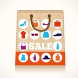 Diseño del bolso de la ropa de las compras libre illustration