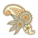 Diseño del bordado del escote Fotografía de archivo