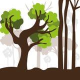 Diseño del bosque, ejemplo del vector libre illustration