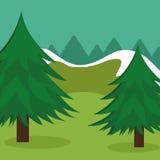Diseño del bosque, ejemplo del vector stock de ilustración