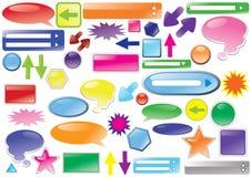 Diseño del botón. vector Imagen de archivo libre de regalías
