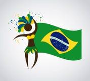 Diseño del Brasil Imagen de archivo libre de regalías
