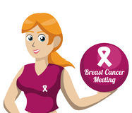 Diseño del cáncer de pecho stock de ilustración