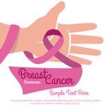 Diseño del cáncer de pecho Imagen de archivo libre de regalías