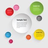 Diseño del círculo de color del vector Imagen de archivo libre de regalías