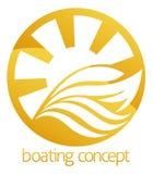 Diseño del círculo del barco o del yate de la velocidad Foto de archivo libre de regalías