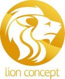 Diseño del círculo del concepto del león Fotografía de archivo