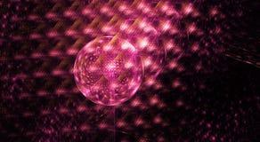 Diseño del círculo del fractal con forma púrpura y rosada de los cristales stock de ilustración