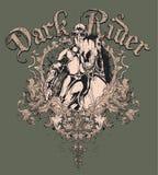 Diseño del caballero y del caballo ilustración del vector