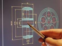 Diseño del cad Imagen de archivo libre de regalías