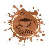Diseño del café sobre el ejemplo del vector del fondo Foto de archivo