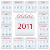 Diseño del calendario - 2011 Foto de archivo libre de regalías