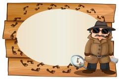 Diseño del capítulo con el espía y footprinted libre illustration