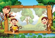 Diseño del capítulo con los monos en selva libre illustration