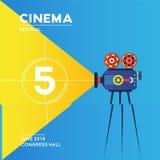 Diseño del cartel del cine de la película Imagen de archivo libre de regalías