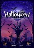 Diseño del cartel de Halloween Fotografía de archivo