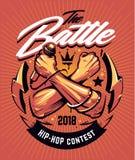 Diseño del cartel de la batalla del hip-hop Fotografía de archivo