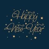 Diseño 2015 del cartel de la celebración de la Feliz Año Nuevo Imagenes de archivo