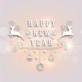 Diseño 2015 del cartel de la celebración de la Feliz Año Nuevo Imágenes de archivo libres de regalías