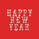 Diseño 2015 del cartel de la celebración de la Feliz Año Nuevo Foto de archivo libre de regalías