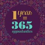Diseño del cartel de la cita de la inspiración del Año Nuevo Fotos de archivo libres de regalías