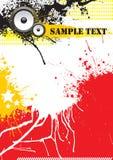 Diseño del cartel de la música de Grunge Fotografía de archivo