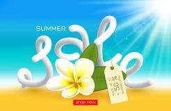 Diseño del cartel de la venta del verano Fotografía de archivo