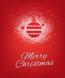 Diseño del cartel de los saludos de la Feliz Navidad Stock de ilustración