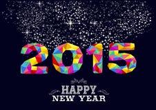 Diseño 2015 del cartel del Año Nuevo Foto de archivo libre de regalías