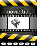 Diseño del cartel del cine Imágenes de archivo libres de regalías