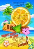 Diseño del cartel del festival del verano Fotografía de archivo
