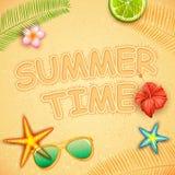 Diseño del cartel del tiempo de verano Fotografía de archivo libre de regalías