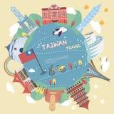 Diseño del cartel del viaje de Taiwán stock de ilustración