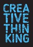 Diseño del cartel del pensamiento creativo con la línea incompleta dibujada mano artística Art Style Drawings Illustrations Of de Foto de archivo