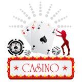 Diseño del casino stock de ilustración