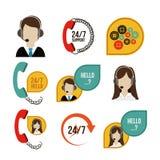Diseño del centro de atención telefónica stock de ilustración