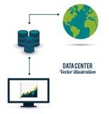 Diseño del centro de datos Foto de archivo