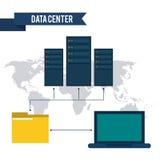 Diseño del centro de datos Fotos de archivo libres de regalías