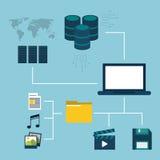 Diseño del centro de datos Imagenes de archivo