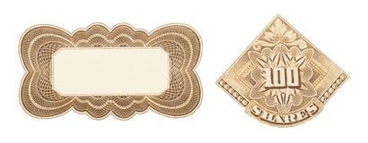 Diseño del certificado común Foto de archivo libre de regalías