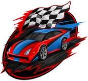 Diseño del coche de competición que apresura libre illustration