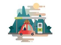 Diseño del coche eléctrico libre illustration