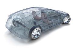 Diseño del coche, modelo del wireframe Fotografía de archivo libre de regalías