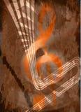Diseño del collage del triple de la música del vintage Imagenes de archivo