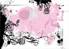 Diseño del color de rosa de Grunge Imagen de archivo libre de regalías