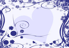 Diseño del corazón del invierno Foto de archivo libre de regalías