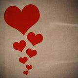 Diseño del corazón en el papel Recycle stock de ilustración